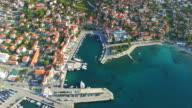 Aerial view of Supetar on Island of Brac video