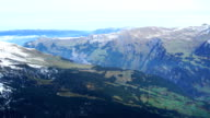 Aerial view of Swiss Alps video