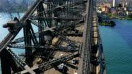 Aerial view of Sydney Harbour Bridge (4K/UHD to HD) video