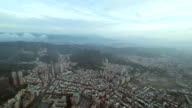 Aerial view of Taipei city in Taiwan video
