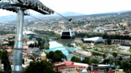 Aerial view of Tbilisi, Georgia video