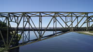Aerial view of the Agate Pass Bridge connecting Bainbridge Island to the Kitsap Peninsula - Seattle, Bainbridge Island, Washington, USA video