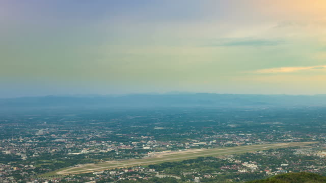 Aerial View of the Airport in Chiang mai Thailand video