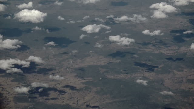 Aerial view of the Australian outback video