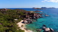 Aerial view of The Baths, Virgin Gorda video
