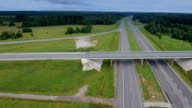 Aerial view of the big roads and skyway video