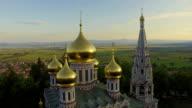 Aerial view of the Church near Shipka video