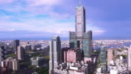 Aerial view of the city in Kaohsiung - Taiwan video