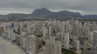 Aerial view of the city of Benidorm and Levante Beach video