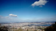 aerial view of the city of Zurich from Uetliberg hill video