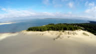 Aerial view of the Dune du Pilat - the largest sand dune in Europe, Arcachon,France video