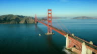 Aerial view of the Golden Gate Bridge, San Francisco, USA video
