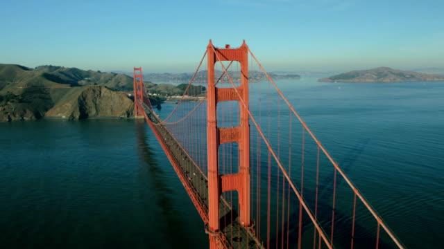 Aerial view of the Golden Gate Bridge, San Francisco, USA video