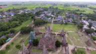 Aerial View of the Great Ancient Pagoda video