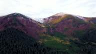 Aerial view of the highest ukrainian Carpathians peaks video