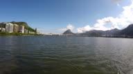 Aerial view of the Lagoa Rodrigo de Freitas at Rio de Janeiro, Brazil video