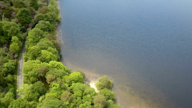 Aerial view of the lakes of Killarney, Ireland video
