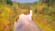Aerial view of the river in Nommeveski video