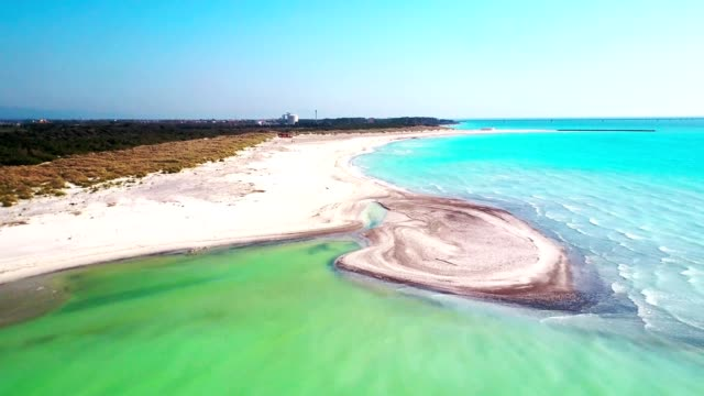 aerial view of the water coastline video