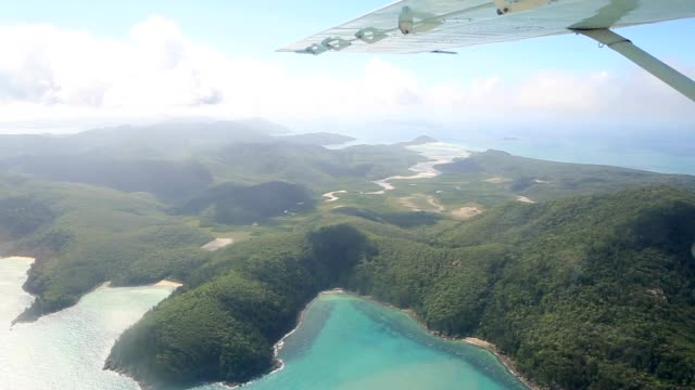 Aerial view of the Whitsundays Islands video