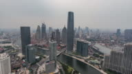 T/L WS HA PAN Aerial View of Tianjin Skyline / Tianjin, China video