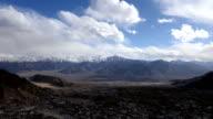 Aerial view of time lapse Leh city Ladakh video