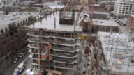 Aerial view of top floor of a construction site video