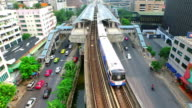 Aerial View of Traffic and transport system in Bangkok video