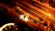 aerial view of traffic on expressway,time lapse video