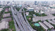 Aerial view of traffic on stack express highway video