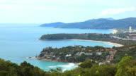 Aerial view of tropical Kata Beach andaman sea Phulet Thailand video