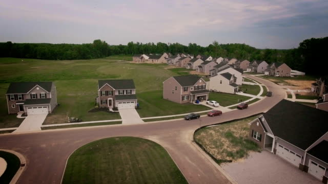 Aerial View of Typical Eastern Ohio Residential Neighborhood video