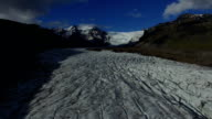 Aerial view of Vatnajokull glacier, Iceland video