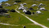 Aerial view of Velika Planina video