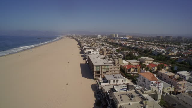 Aerial view of Venice Beach and Marina Del Rey - Los Angeles, California, USA video