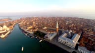 aerial view of venice, st mark's square video