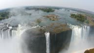 Aerial view of Victoria Falls, Africa video
