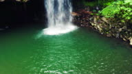 4K Aerial View of Waterfall in Jungle Paradise video