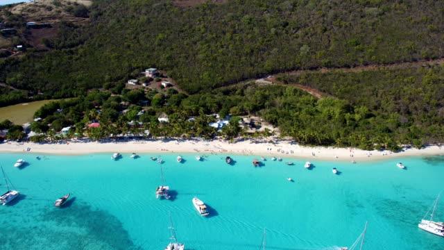 Aerial view of White Bay, Jost Van Dyke video
