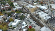 Aerial view of Wicker Park video
