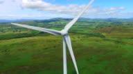 Aerial view of wind turbines video
