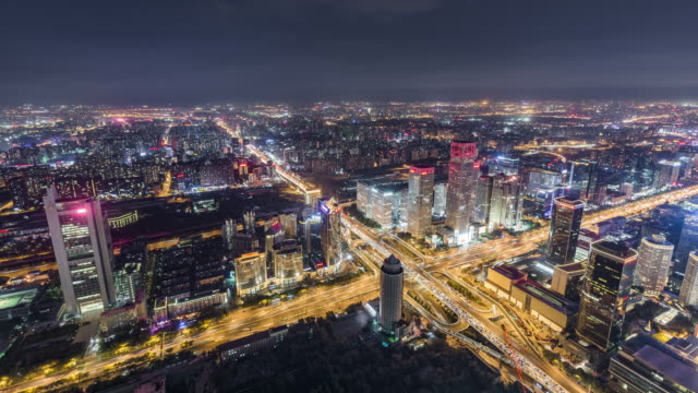 T/L WS HA Aerial View of Wonderful City Scene / Beijing, China video