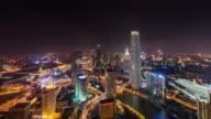 T/L WS HA Aerial View of Wonderful City Scene / Tianjin, China video