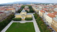 Aerial view of Zagreb, King Tomislav Square video