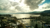 Aerial view of Zurich Lake video