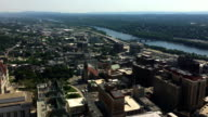 Aerial view over Albany, New York video
