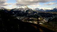 Aerial view over mountain - BANFF video