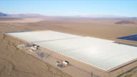 Aerial view Photovoltaic Solar units, USA video