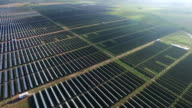 Aerial View Really far from the Massive Webberville Solar Panel Farm outside of Austin , TX video