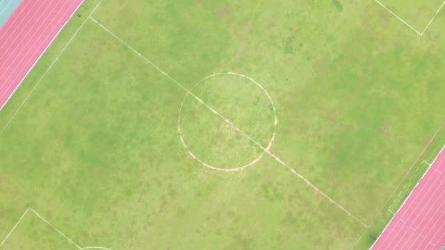 Aerial View shot of Soccer Fields video